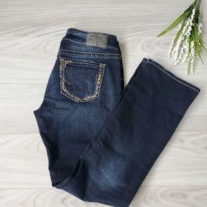 SILVER Elyse mid slim boot, dark wash jeans